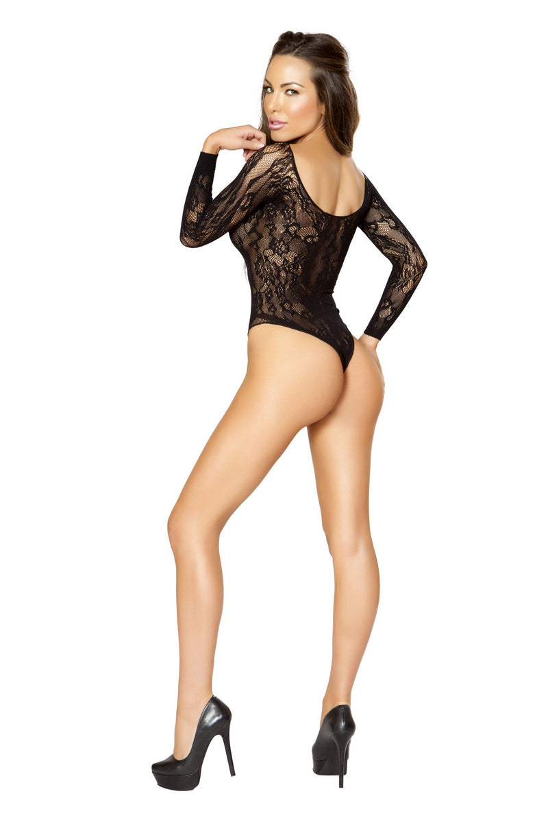 Crotchless Long-Sleeved Romper Bodystocking