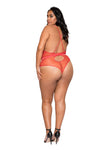Beautiful Plus Size Valentine's Day Teddy Lingerie