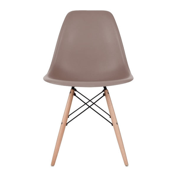 Sparrow Eames Style Molded Plastic Dowel-Leg Dining Side Wood Base Chair (DSW) Natural Legs