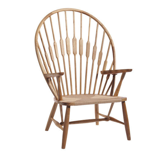 Hans Weger Style Peacock Chair in Natural
