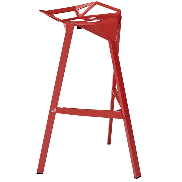 Launch Stacking Bar Stool - Red