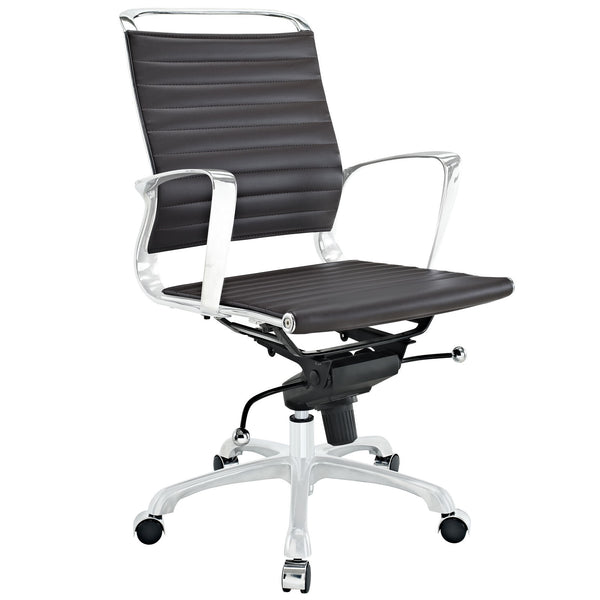 Tempo Mid Back Office Chair - Brown