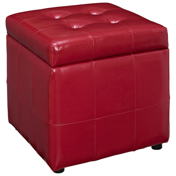 Volt Storage Ottoman - Red