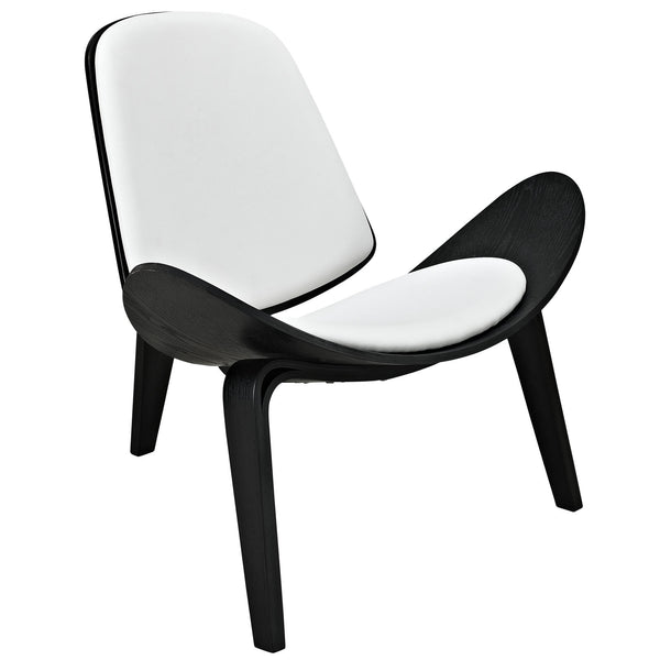 Arch Vinyl Lounge Chair - Black White