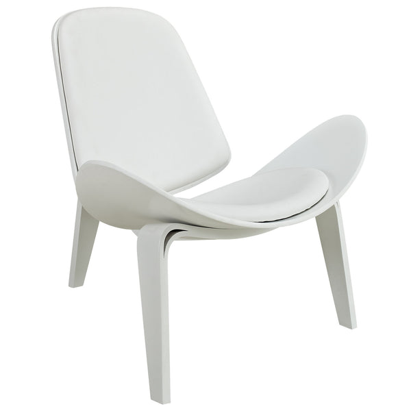 Arch Vinyl Lounge Chair - White White