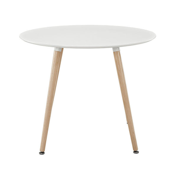 "36"" Round Track Dining Table - White"