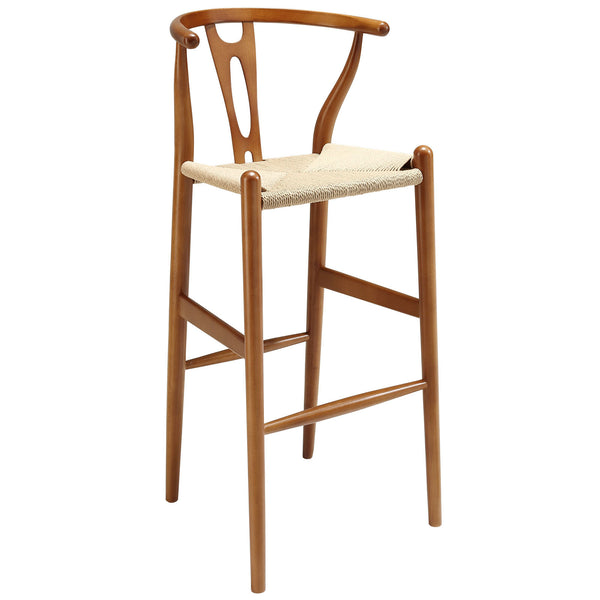 Amish Wood Bar Stool - Walnut