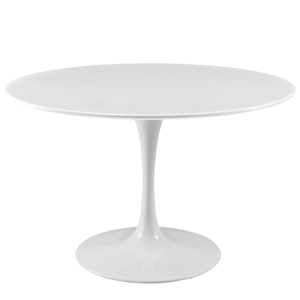 "Lippa 47"" Wood Top Dining Table - White"