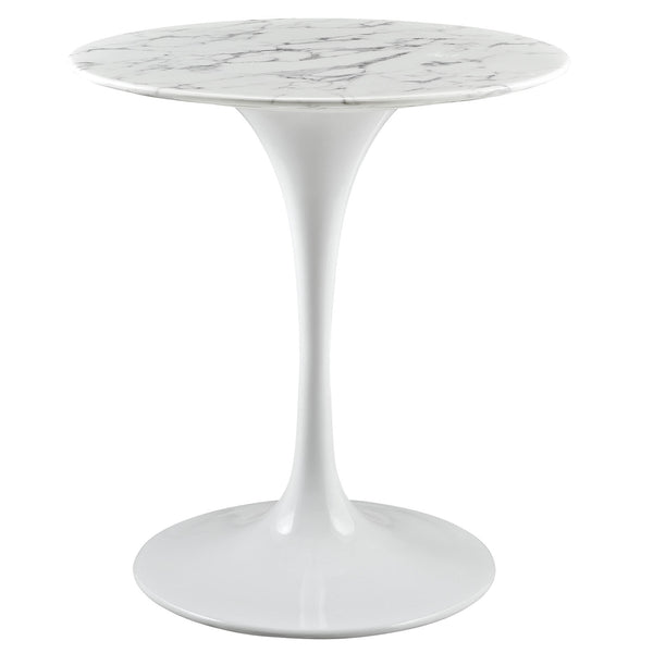 "Lippa 28"" Artificial Marble Dining Table - White"