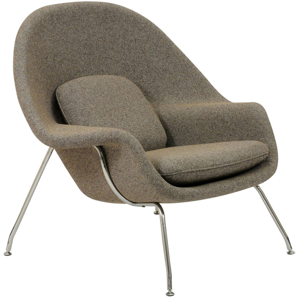 W Fabric Lounge Chair - Oatmeal