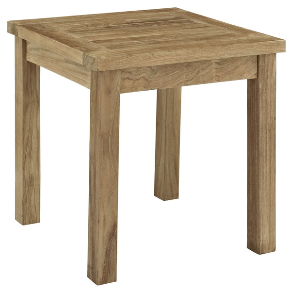 Marina Outdoor Patio Teak Side Table - Natural