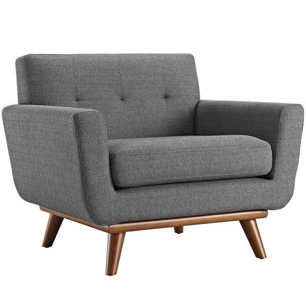 Engage Upholstered Armchair - Gray