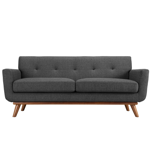 Engage Upholstered Loveseat - Gray