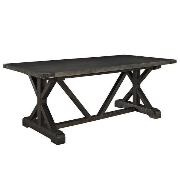 Anvil Wood Dining Table - Black