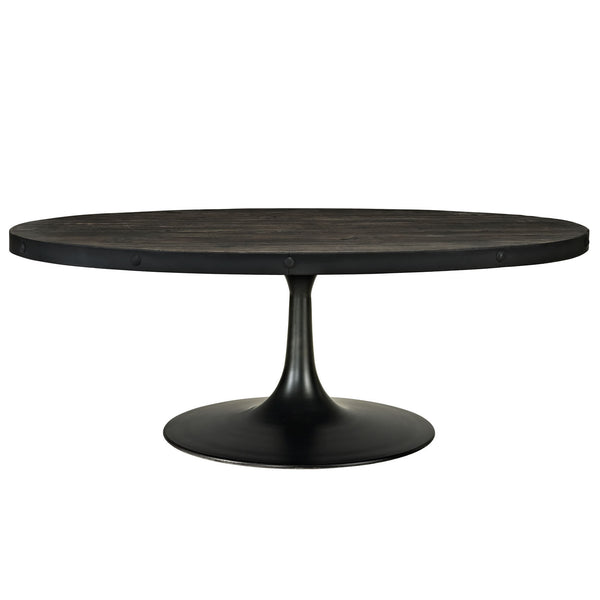 Drive Wood Top Coffee Table - Black