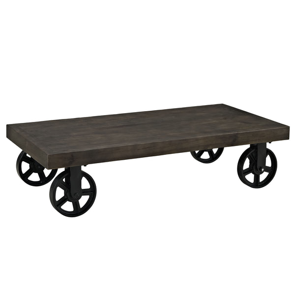 Garrison Wood Top Coffee Table - Black