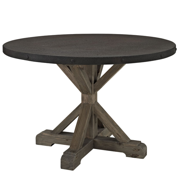 Stitch Wood Top Dining Table - Brown