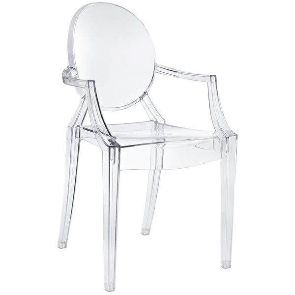 Ghost Style Dining Armchair - Clear