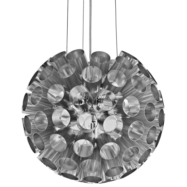 Pierce Aluminum Chandelier - Silver