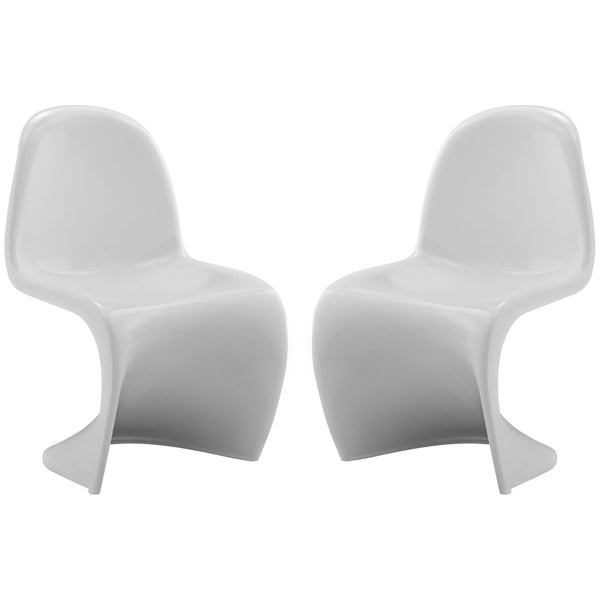 Slither Kids Chair Set of 2 - White