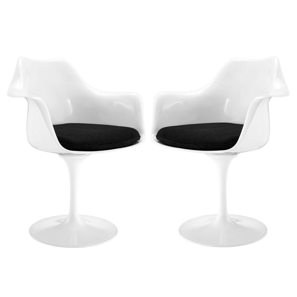 Lippa Dining Armchair Set of 2 - Black