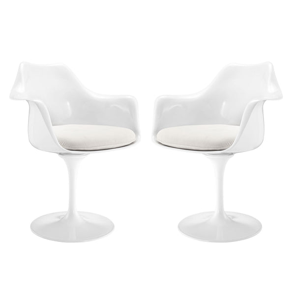 Lippa Dining Armchair Set of 2 - White