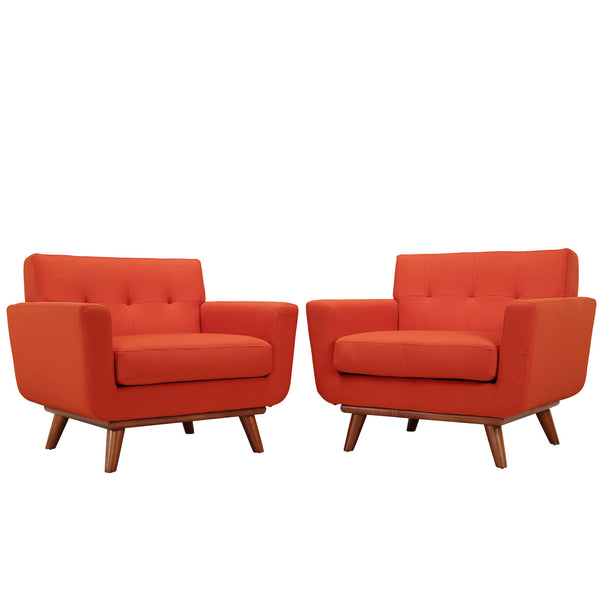 Engage Armchair Wood Set of 2 - Atomic Red