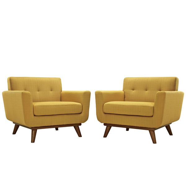 Engage Armchair Wood Set of 2 - Citrus