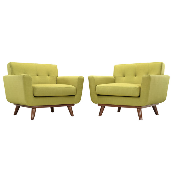 Engage Armchair Wood Set of 2 - Wheatgrass