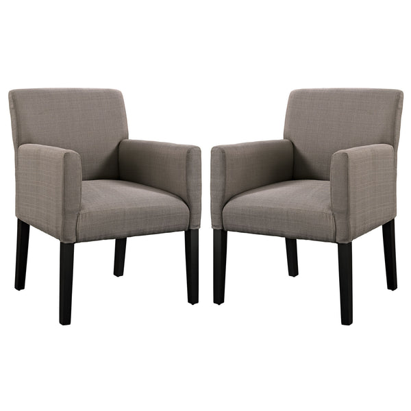 Chloe Armchair Set of 2 - Gray