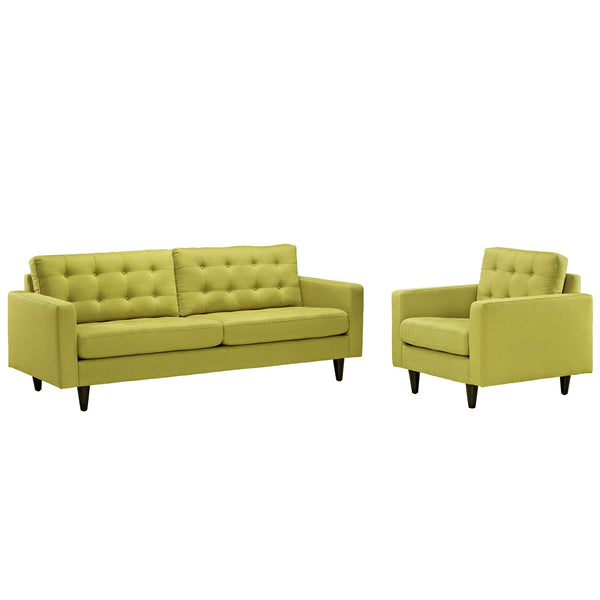 Empress Armchair and Sofa Set of 2 - Wheatgrass