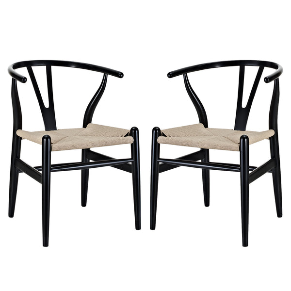 Amish Dining Armchair Set of 2 - Black