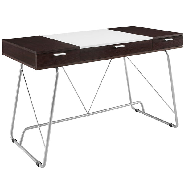 Panel Office Desk - Cherry