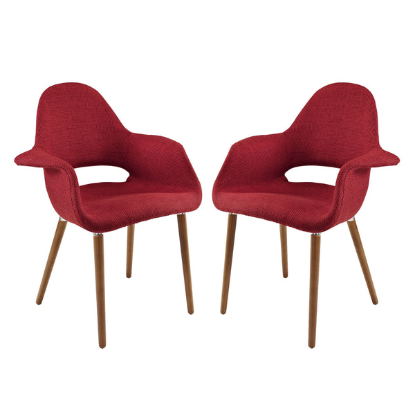 Aegis Dining Armchair Set of 2 - Red
