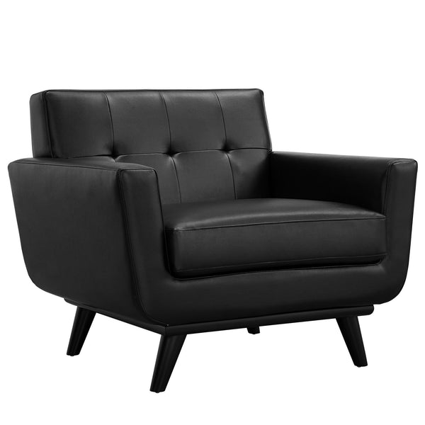 Engage Bonded Leather Armchair - Black