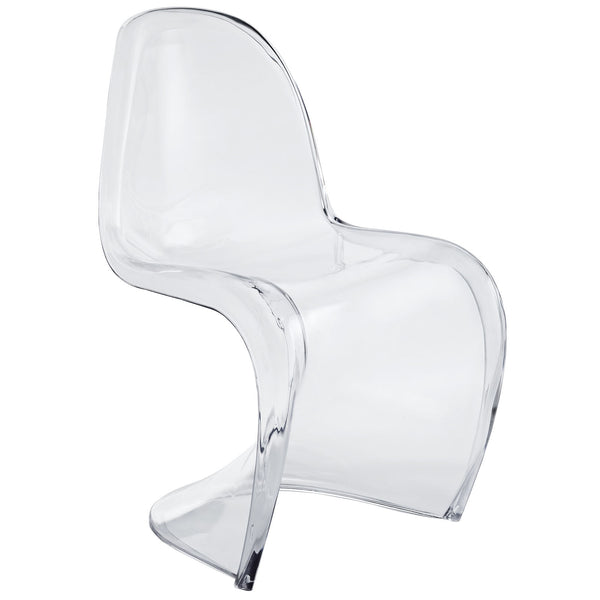 Slither Dining Acrylic Side Chair - Clear