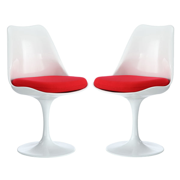 Lippa Dining Side Chair Set of 2 - Red