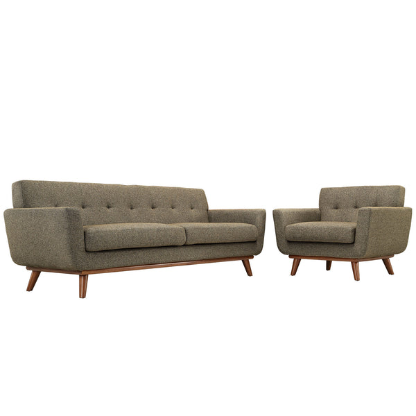 Engage Armchair and Sofa Set of 2 - Oatmeal
