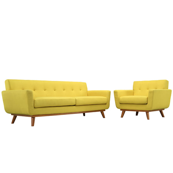 Engage Armchair and Sofa Set of 2 - Sunny