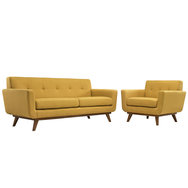 Engage Armchair and Loveseat Set of 2 - Citrus