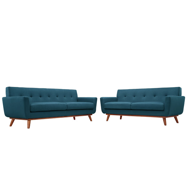 Engage Loveseat and Sofa Set of 2 - Azure