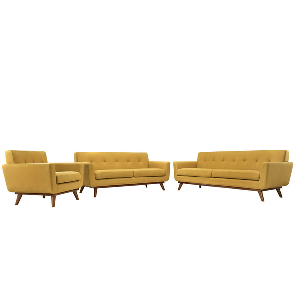 Engage Sofa Loveseat and Armchair Set of 3 - Citrus