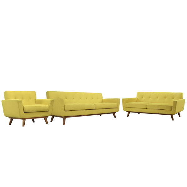 Engage Sofa Loveseat and Armchair Set of 3 - Sunny
