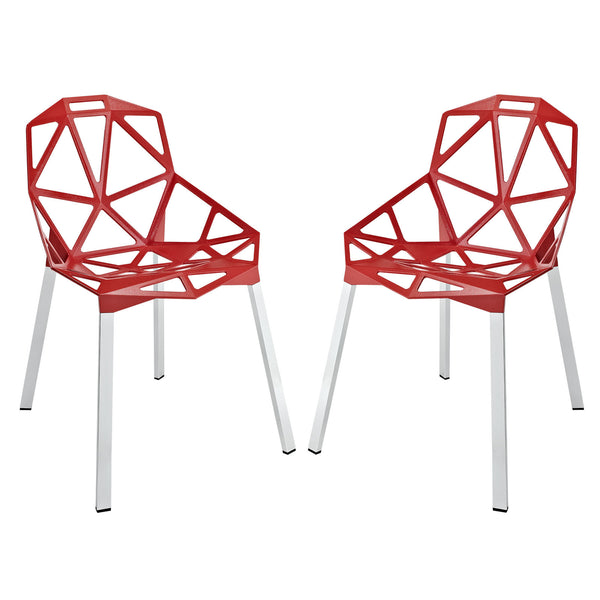 Connections Dining Chair Set of 2 - Red