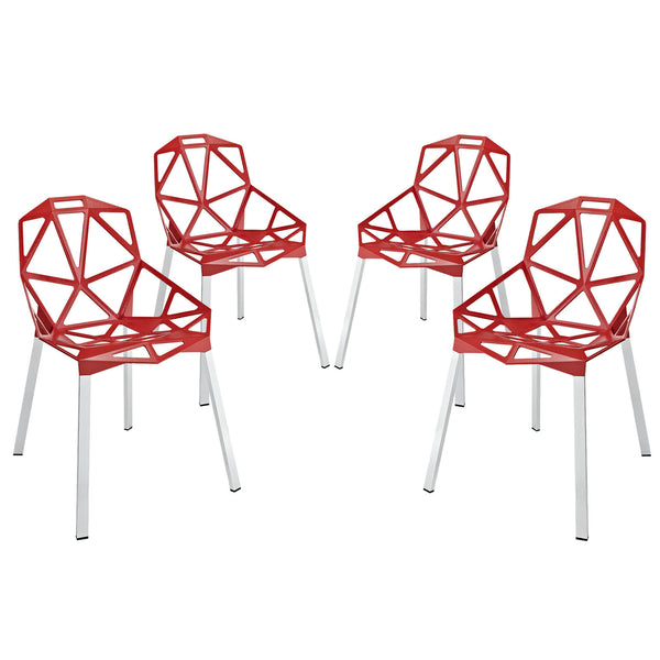 Connections Dining Chair Set of 4 - Red