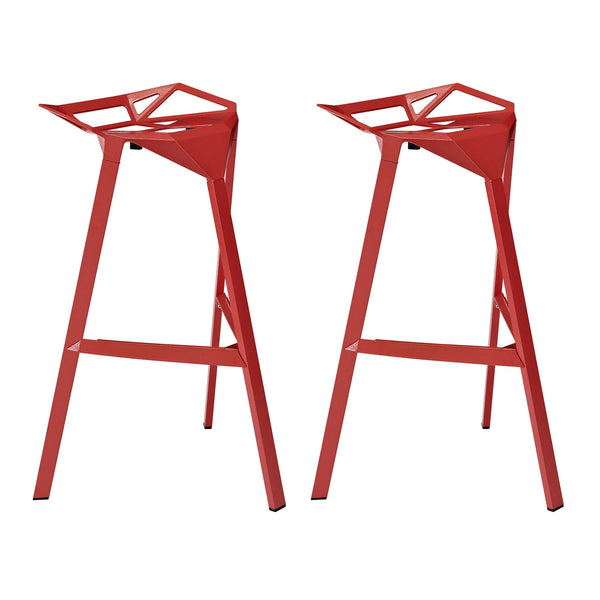 Launch Stacking Bar Stool Set of 2 - Red