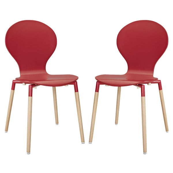 Path Dining Chair Set of 2 - Red