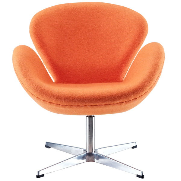 Wing Lounge Chair - Orange