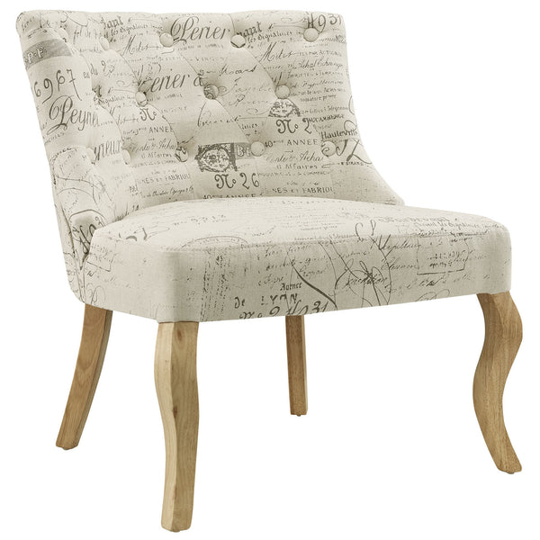 Royal Fabric Armchair - White