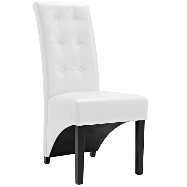 Preside Dining Vinyl Side Chair - White